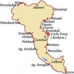 Mapa Krfa | apartmani i hoteli na Krfu