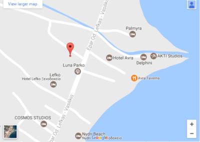 Nidri mapa